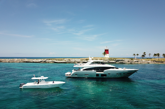 Yacht Hot Pursuit and tender
