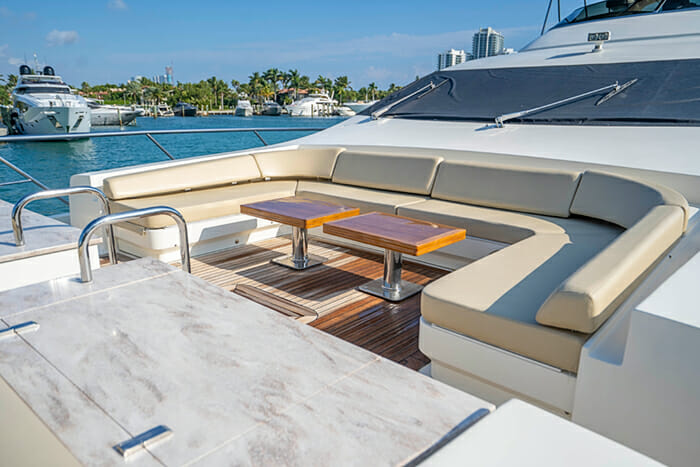 Yacht Intervention bow seating
