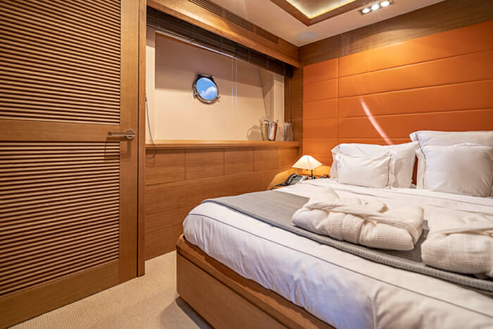 Yacht Intervention guest cabin