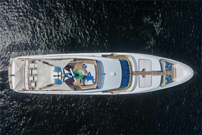 Yacht Kaos Aerial