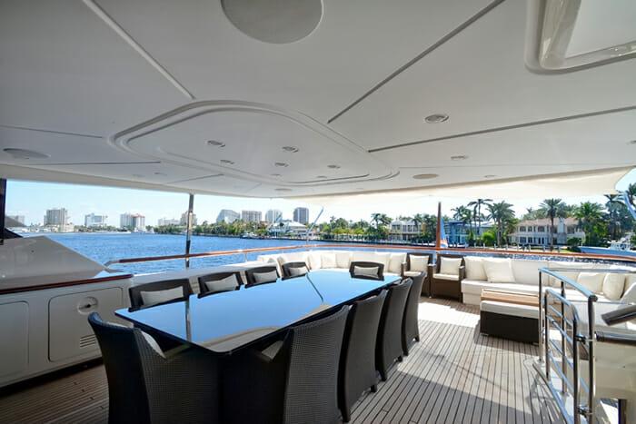 Yacht Kaos Deck Dining