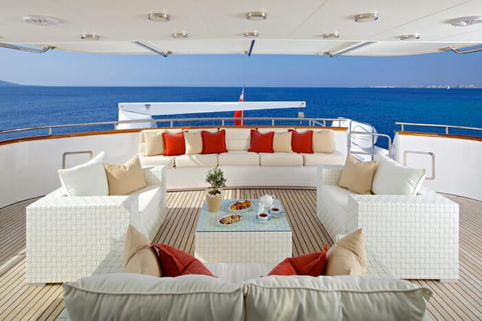 Yacht Lady Ellen Upper Deck Aft Seating