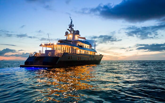 Yacht Northern Sun At Night