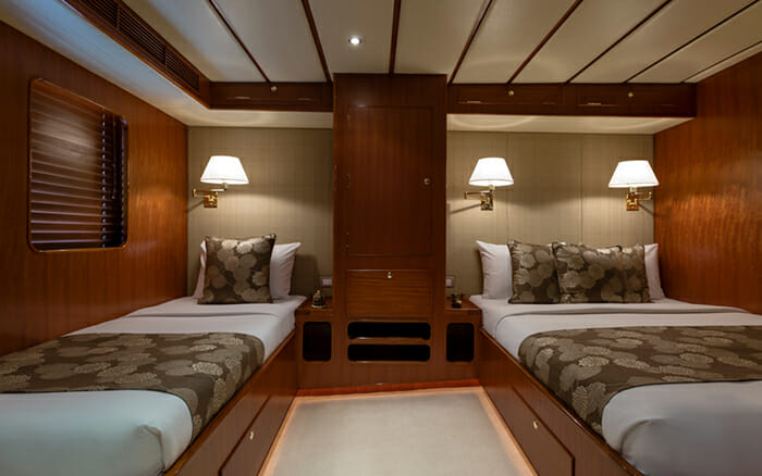 Yacht Northern Sun Twin Cabin with one Double Bed