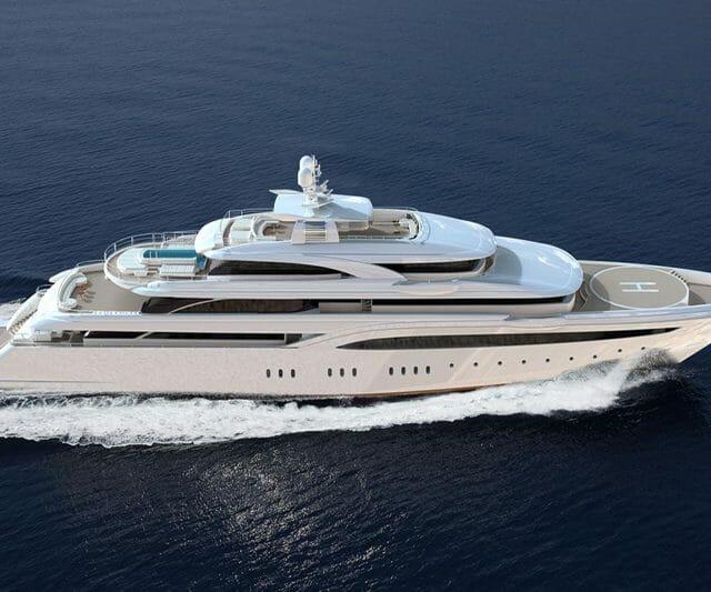 Yacht O'Ptasia with Helipad