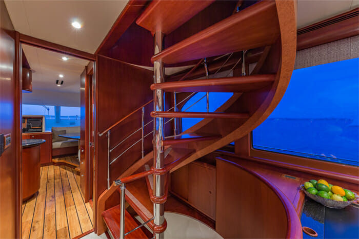 Yacht Oculus stairs
