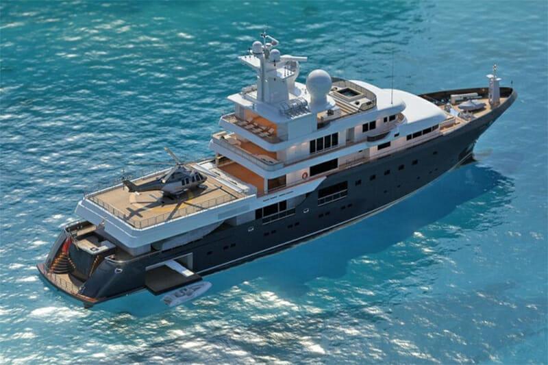 Yacht Planet Nine with Helipad