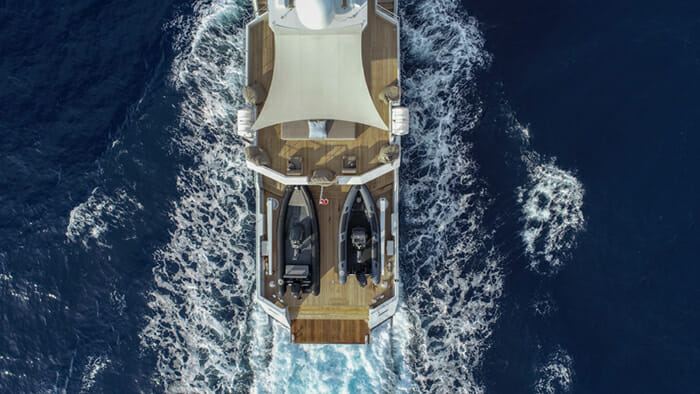 Yacht Preference 19 Aerial Deck View
