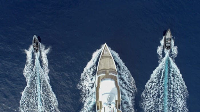 Yacht Preference 19 and Tenders 2