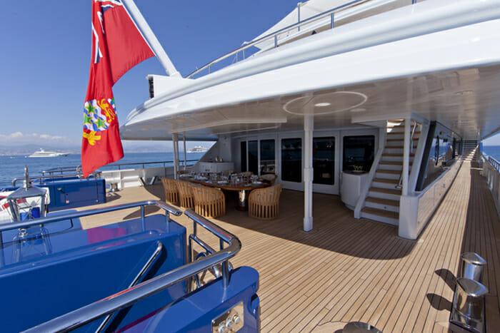 Yacht Sarah Main deck aft