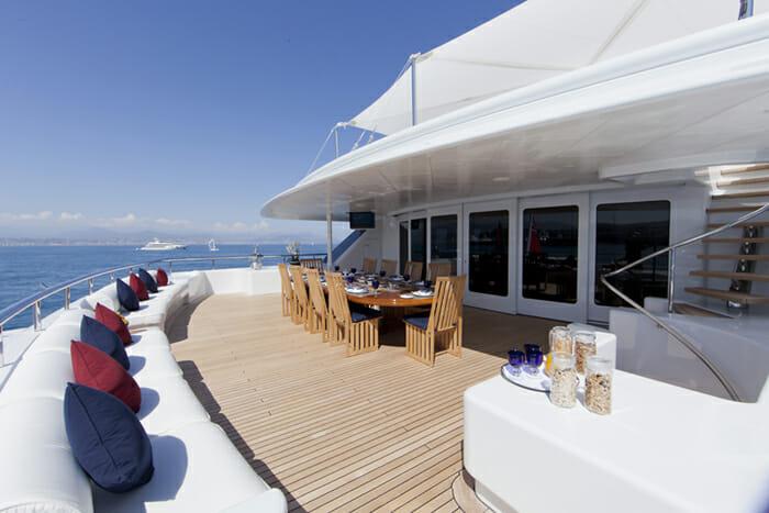 Yacht Sarah Upper deck aft