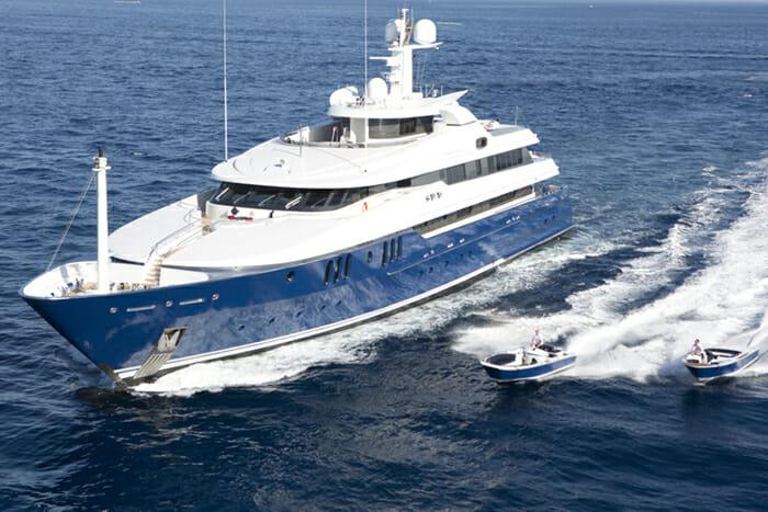 Yacht Sarah and Tenders