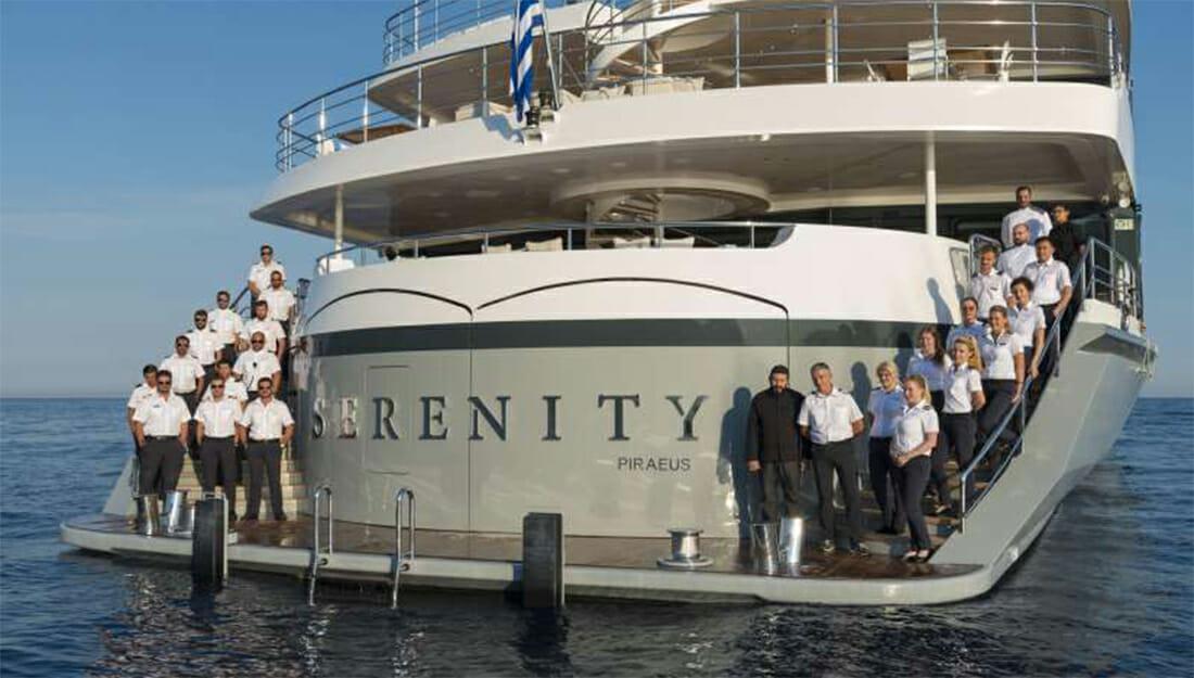 Yacht Serenity name display