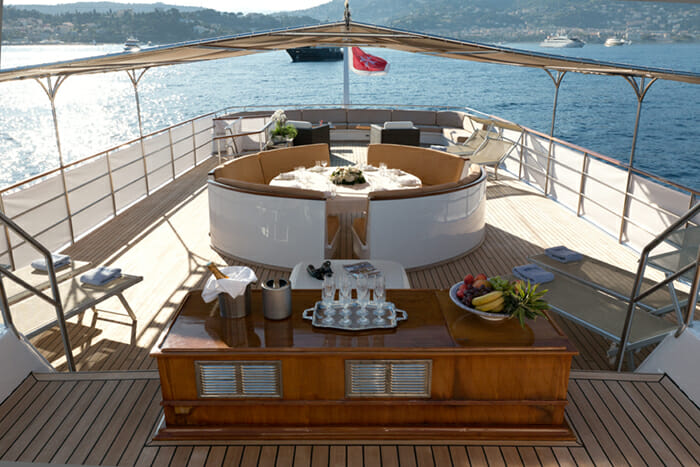 Yacht Shaha sundeck seating
