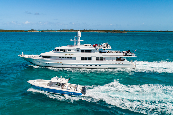 Yacht Starship and tender