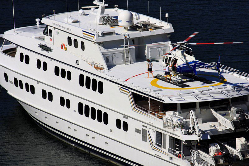 Yacht True North with Helipad
