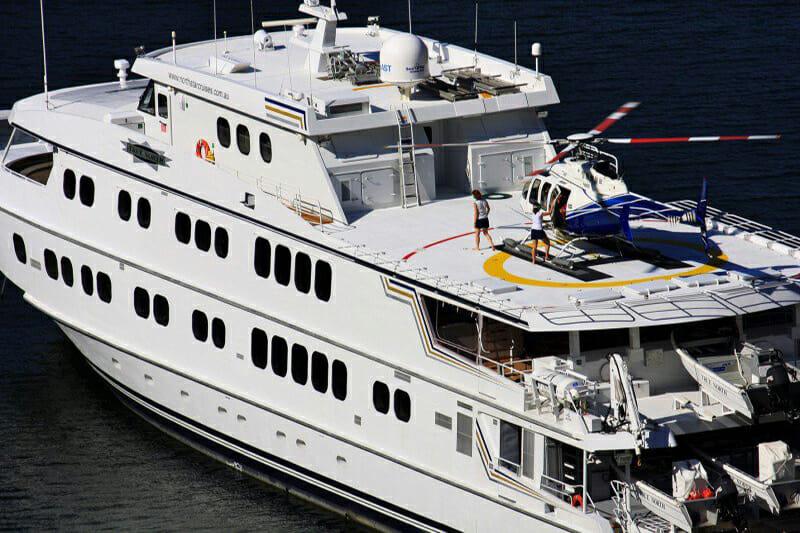 Yacht True North with Helipad