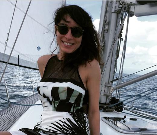 Yoania on a boat