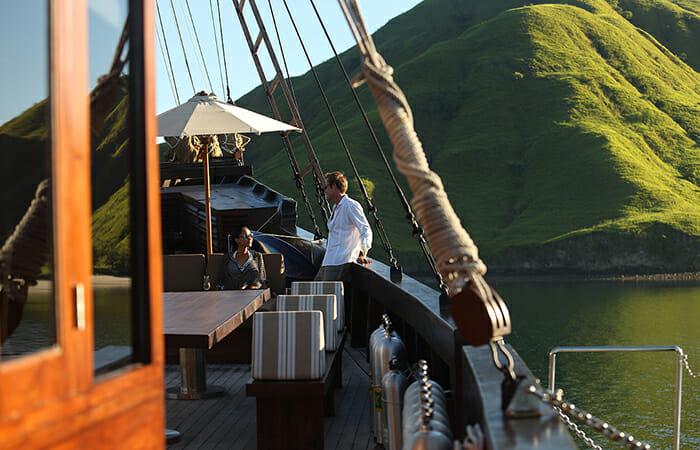 Alila Purnama guests on deck