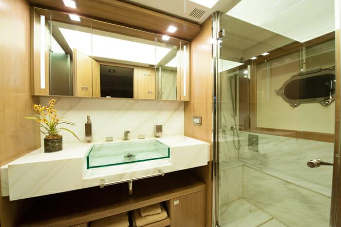 Amore Mio VIP cabin bathroom