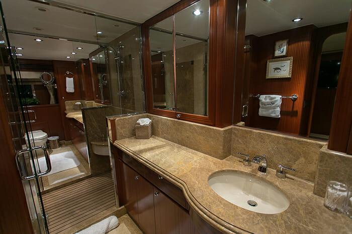 Beachfront master bathroom