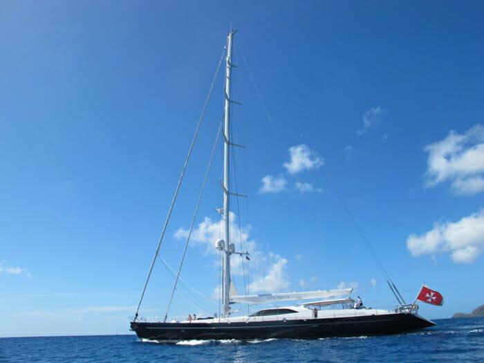 Bella Ragazza at anchor