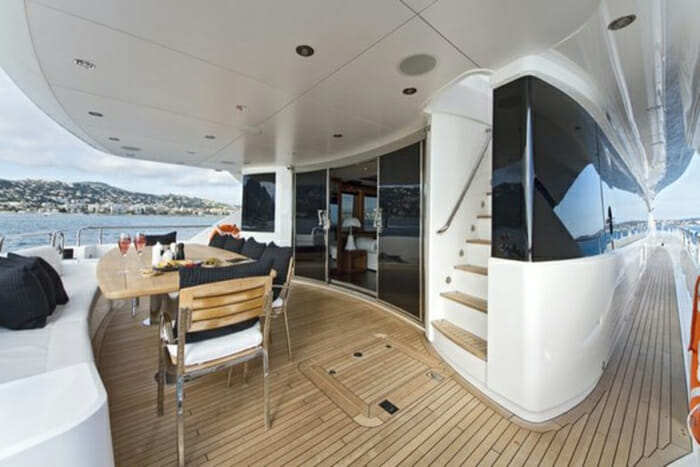 Black and White aft deck