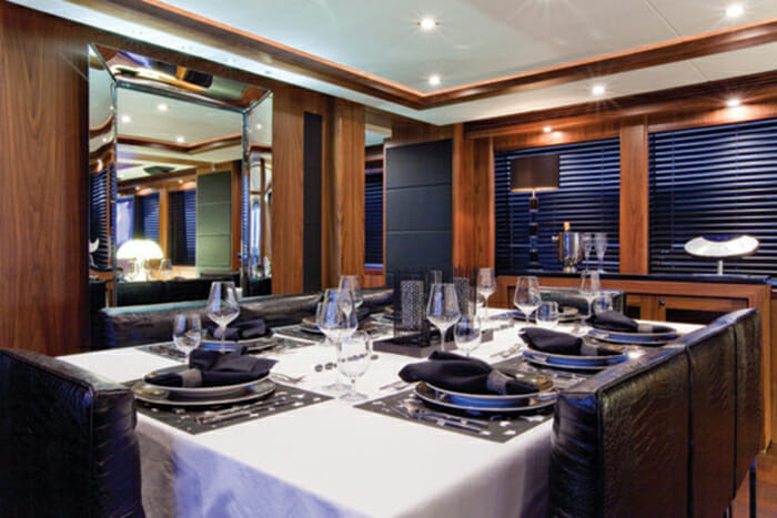 Black and White dining