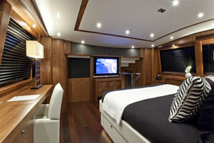 Black and White master cabin