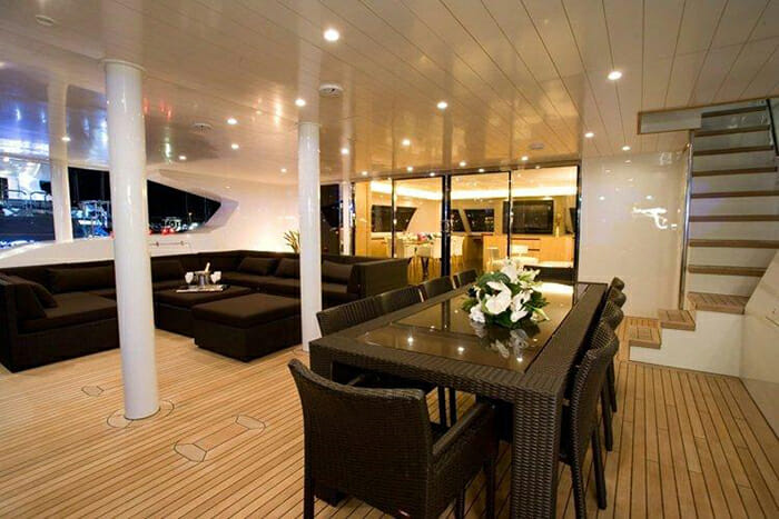 Black Swan aft deck
