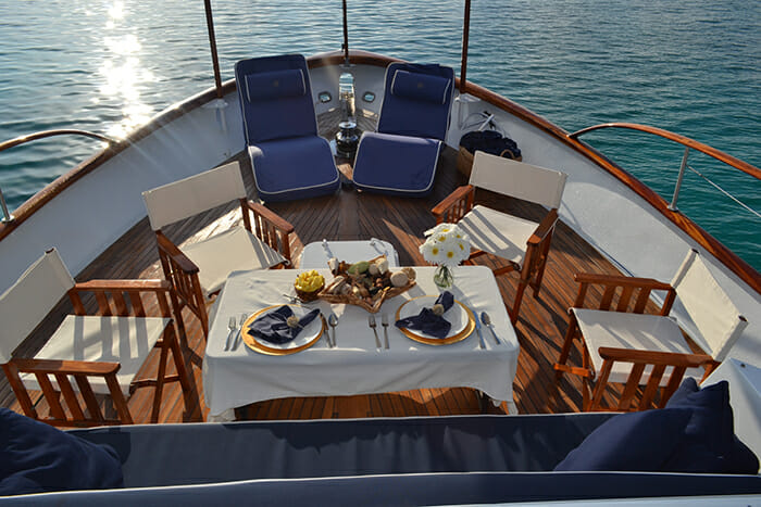 Bonaparte forward deck dining