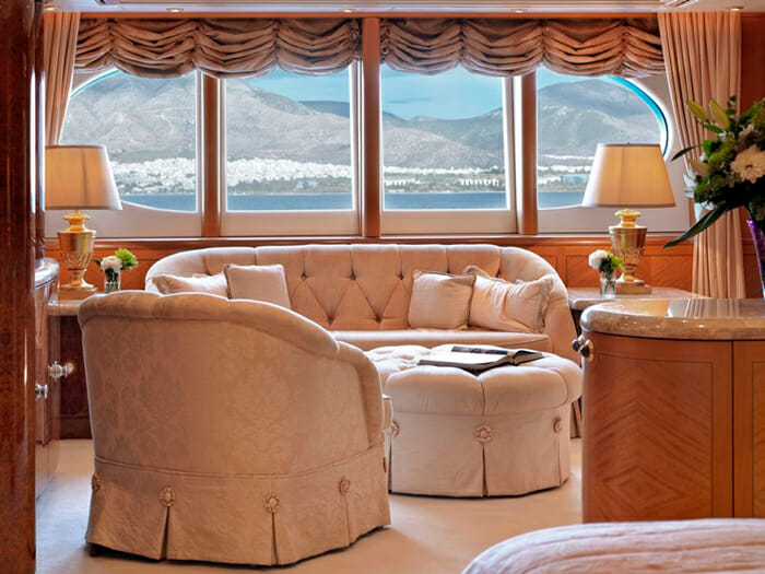 Capri I master cabin sofa