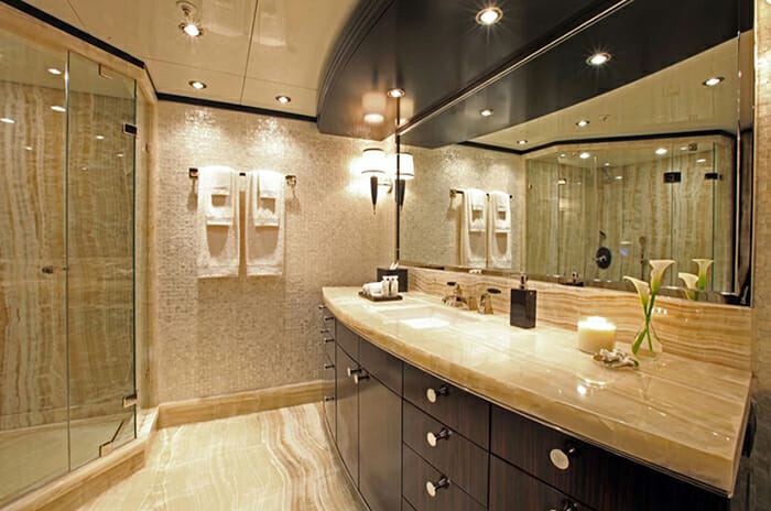 Carpe Diem master bathroom his