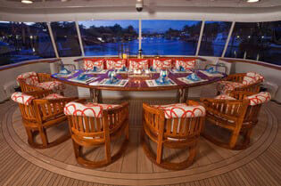 Carte Blanche aft deck dining