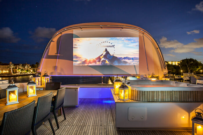 Charisma sundeck outdoor cinema