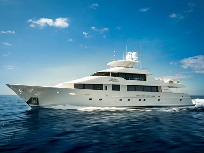 Yacht Chasing Daylight