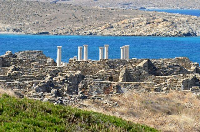 Delos ancient ruins