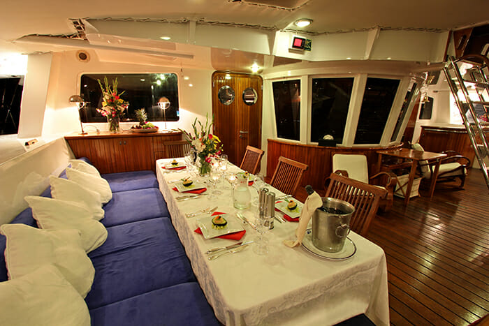 Douce France deck dining