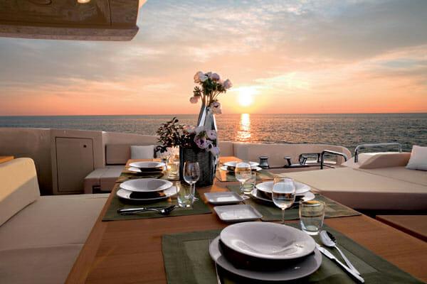 Duke aft deck dining