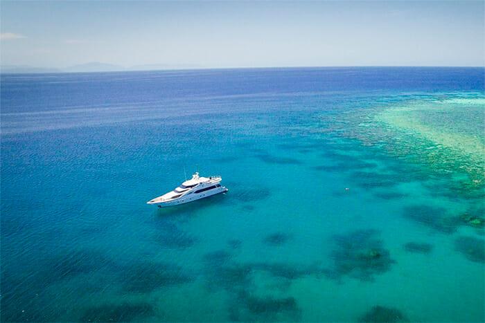 Flying Fish at anchor