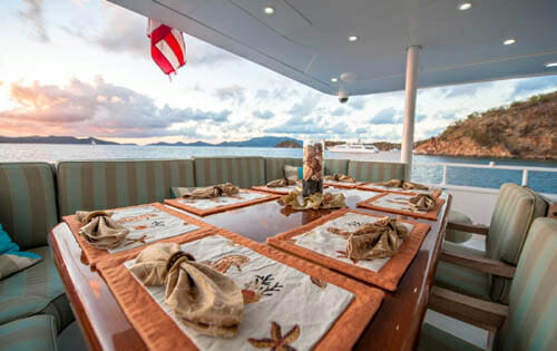 Freedom aft deck dining