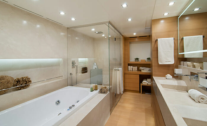 Geosand master bathroom