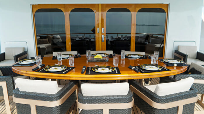 Grand Illusion deck dining