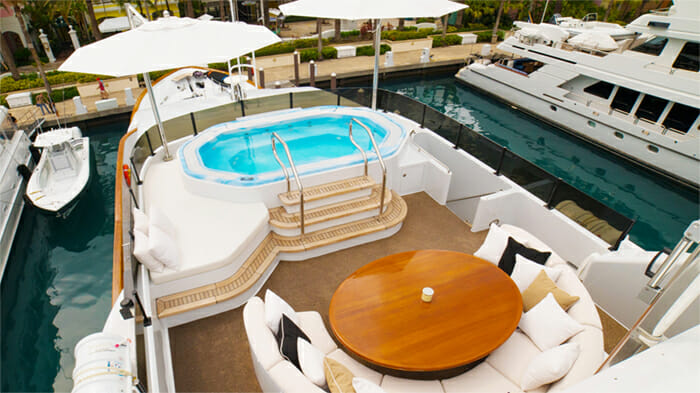 Grand Illusion sundeck jacuzzi