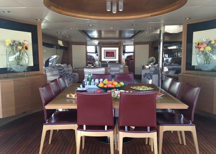 Intervention aft deck dining