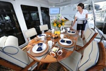 Island Girl deck dining