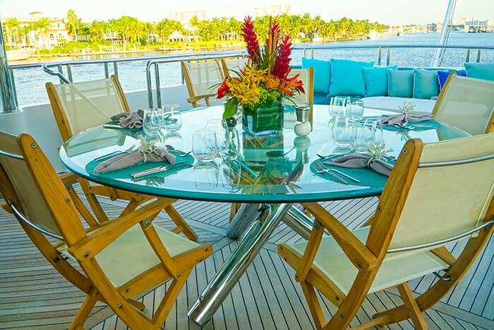 Just Enough bridge deck dining