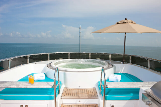Just Enough sundeck jacuzzi