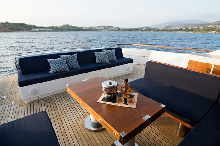 Kambos Blue aft deck
