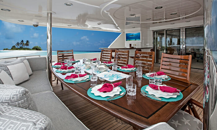Kemosabe aft deck dining
